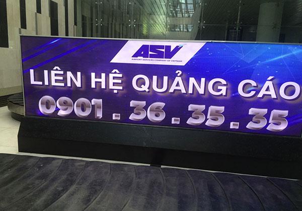 Làm biển quảng cáo tại nhà ga sân bay Cát Bi Hải Phòng