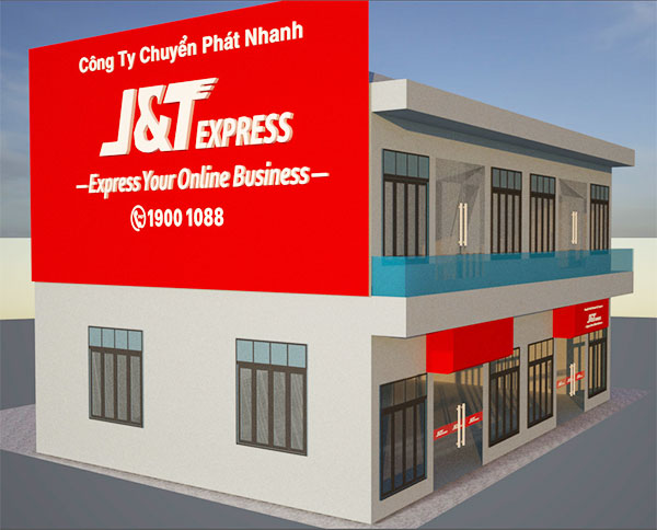 Quảng cáo MX thi công biển quảng cáo J&T tại Hải Phòng