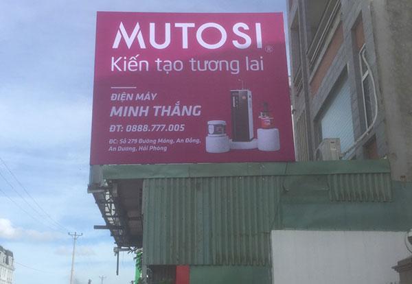 Thi công biển hiệu hãng lọc nước Mutosi tại Hải Phòng