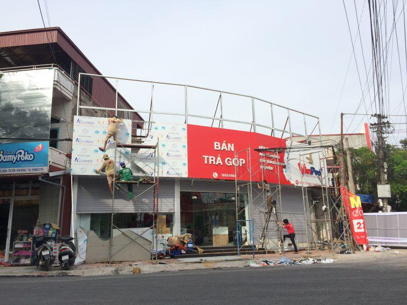 Thi công biển quảng cáo tại huyện Tiên Lãng