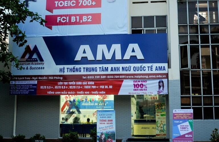 Thi công biển quảng cáo trung tâm ngoại ngữ tại Hải Phòng